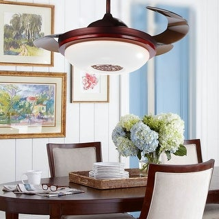 Traditional 42.5-inch Round Foldable 4-Blades LED Ceiling Fan