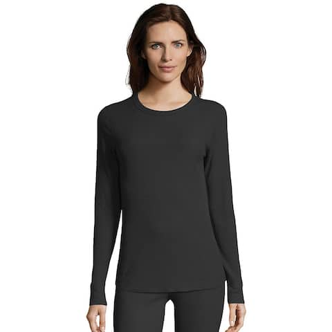 Hanes Women's Waffle Knit Thermal Crewneck