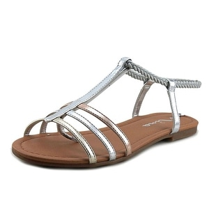 Nina Kids Melvie Youth Open Toe Synthetic Silver Sandals