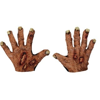 Zombie Flesh Gloves Scary Costume Accessory