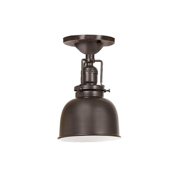 "JVI Designs 1202-08-M2 Union Square 1 Light Semi-Flush 8.75"" Tall Ceiling Fixture with Metal Shade"