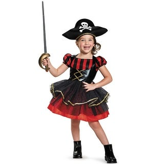 Disguise Precocious Pirate Toddler Costume - Black/Red