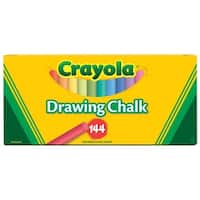 Crayola Non-Toxic Drawing Chalk, Assorted Colors, Pack of 144