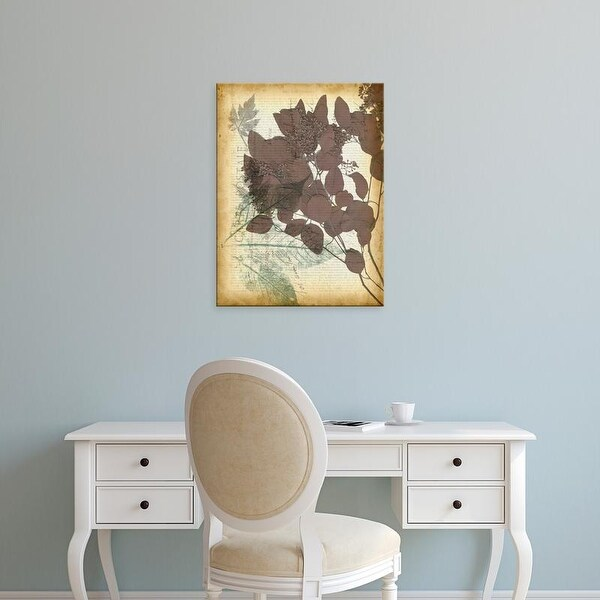 Easy Art Prints Jennifer Goldberger's 'Leaf Letters I' Premium Canvas Art