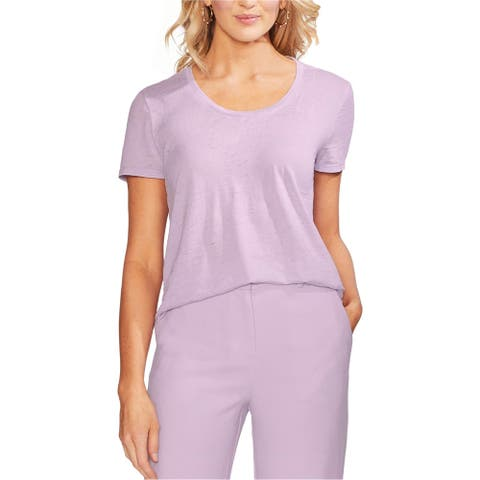 Vince Camuto Womens High-Low Basic T-Shirt