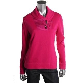 Lauren Ralph Lauren Womens Ribbed Long Sleeves Pullover Sweater