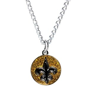 Cleanlapsports New Orleans Saints Glitter Necklace