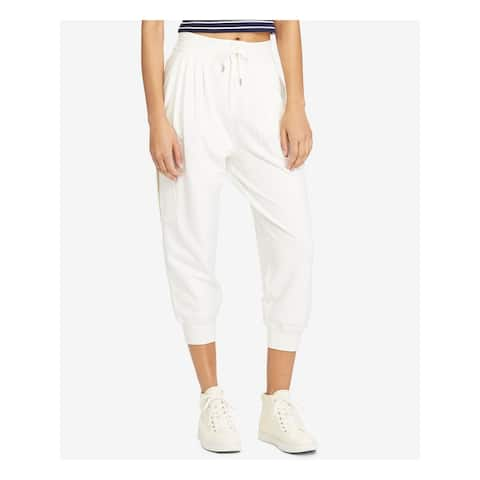 RALPH LAUREN Womens Ivory Pocketed Cuffed Pants Size M