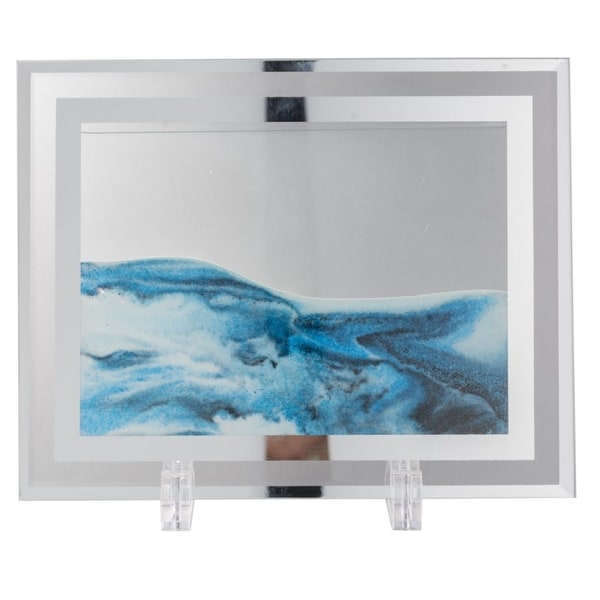 """8.5"""" Gray and Blue Small Moving Sand Table Art - N/A"""