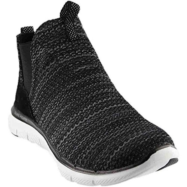 4eb938a33084 Shop Skechers Women s Flex Appeal 2.0 - Chime In Black White 8.5 B Us B (M)  - Free Shipping Today - Overstock - 27125306
