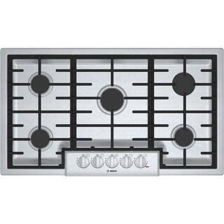 Bosch NGM8656UC 800 Series 36 Inch Wide Built-In Gas Cooktop with 5 Sealed Burne