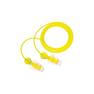 3M Tri-Flange P3000 Hearing Protection Corded Earplugs, 26 dB NRR