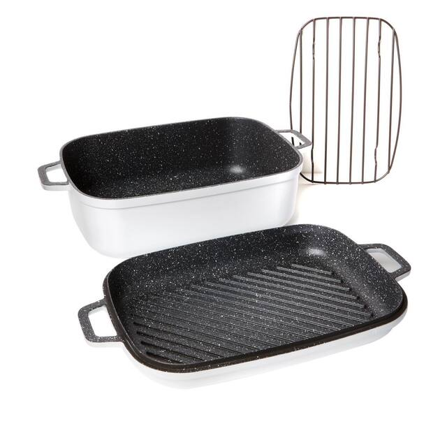 Curtis Stone Nonstick 8.5 qt. Roaster with 3.5 qt. Refurbished