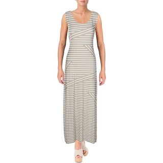 Calvin Klein Womens Maxi Dress Striped Sleeveless
