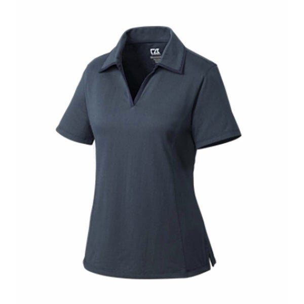 Cutter & Buck Women's Onyx XL Drytec Medina Tonal Stripes Short Sleeve Polo