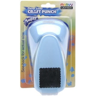 Clever Lever Super Jumbo Craft Punch-Scallop Square