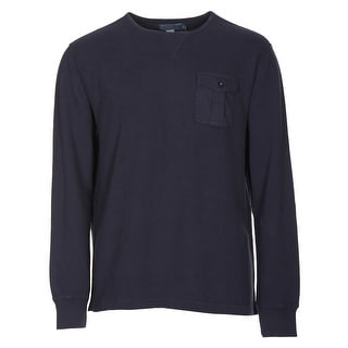 Polo Ralph Lauren Waffle-Knit Crewneck Thermal Sweater Navy Blue X-Large - XL