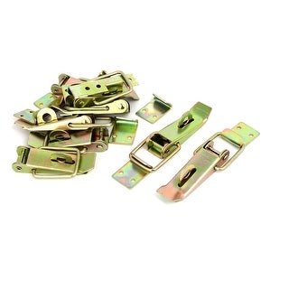Toolbox Case Yellow Zinc Plated Toggle Latches Catch Hasp 112x38x22mm 8pcs