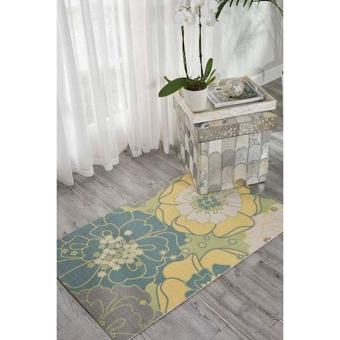 Nourison Home & Garden Floral Indoor / Outdoor Area Rug