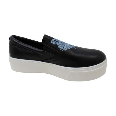 KENZO Womens K-PY Tiger Leather Low Top Slip On Fashion Sneakers