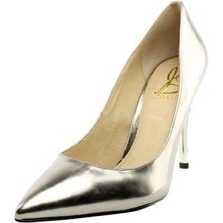 Joan & David Amandie Women Pointed Toe Leather Silver Heels
