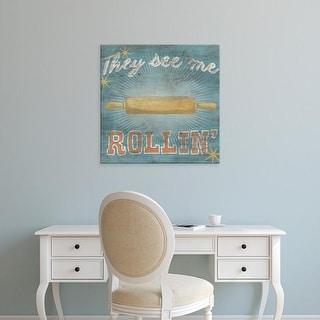 Easy Art Prints June Erica Vess's 'Hip Kitchen II' Premium Canvas Art