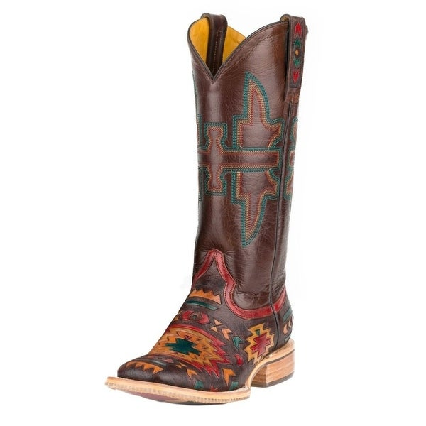 Tin Haul Western Boots Womens Wolf Brown Red