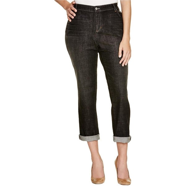 Eileen Fisher Womens Plus Boyfriend Jeans Classic Rise Casual