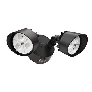 Lithonia Lighting OFLR 6LC 120 P BZ 2-Head LED Floodlight, 120 Volt