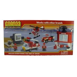 Best-Lock Construction Fire Station Headquarters 220 Piece Set