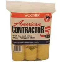 """Wooster R568-9 American Contractor Paint Roller Covers, 9"""" x 3/8"""""""