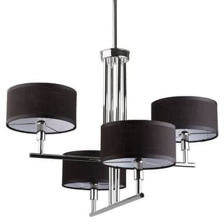Miseno MLIT153737 4-Light Chandelier with Black Fabric Shades