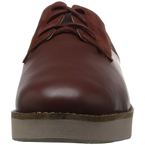 SoftWalk Womens Willis Leather Almond Toe Oxfords