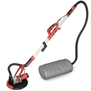 Gymax Electric Drywall Sander Adjustable Variable Speed with Vacuum and LED Light