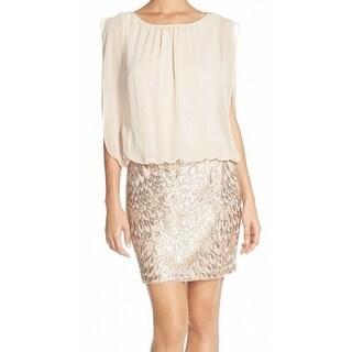 Aidan Mattox NEW Pink Sequined Skirt Women's Size 2 Blouson Dress