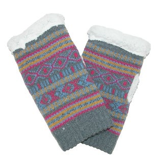 Alotta Knits Women's Knit Texting Gloves with Sherpa Fleece Lining
