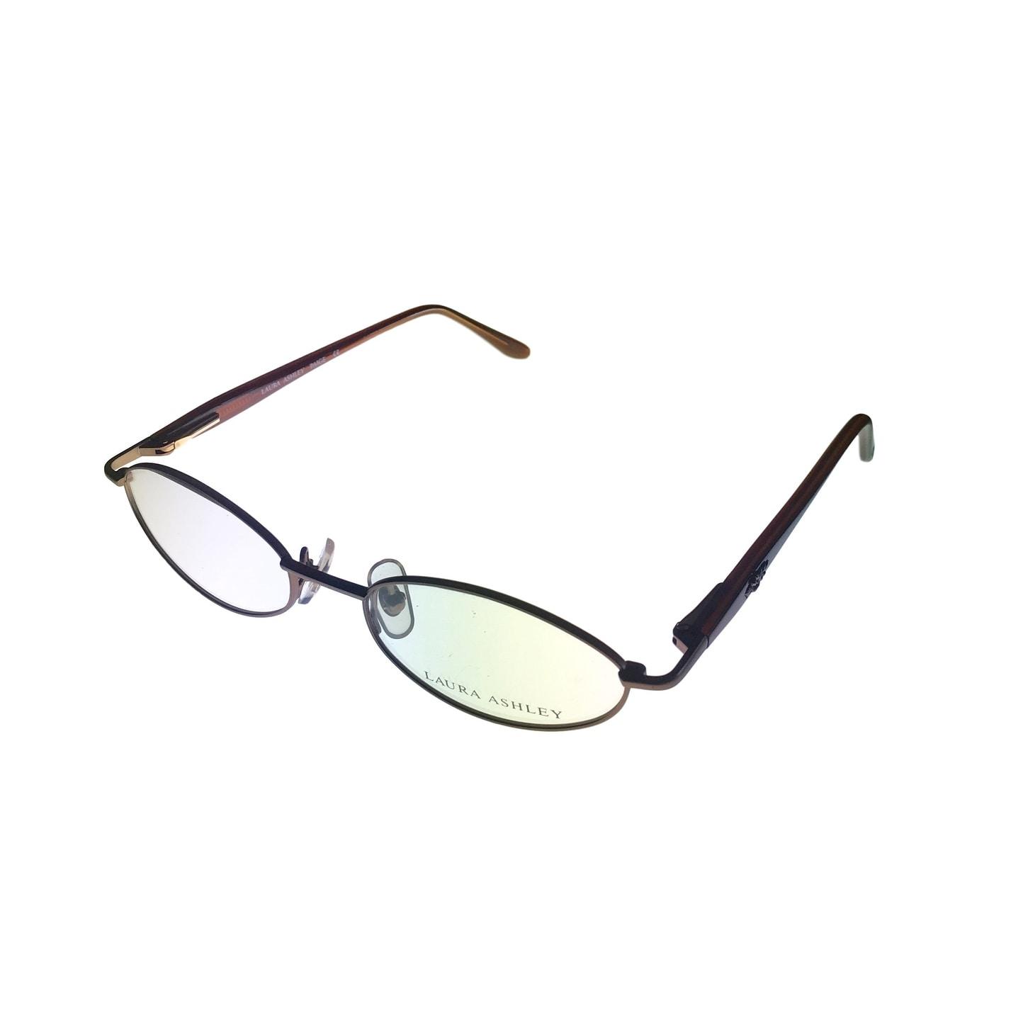 Laura Ashley Womens Opthalmic Eyeglass Modified Rectangle Metal, Page Toffee - Medium - Thumbnail 0