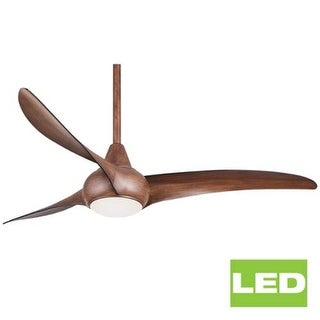 "MinkaAire Light Wave 52"" 3 Blade Light Wave Indoor Ceiling Fan with Integrated LED Light"