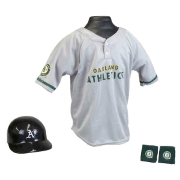innovative design 5451a 01aa7 Oakland Athletics Baseball Helmet and Jersey Set