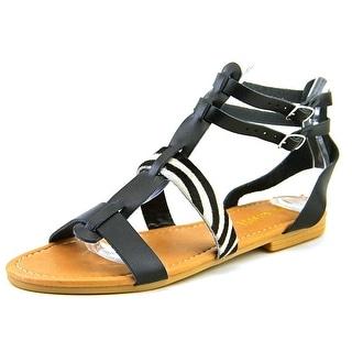 Nine West Bocce Women Open Toe Leather Gladiator Sandal