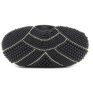 MG Collection Mirela Pearl Evening Bag     Synthetic  Clutch - Black
