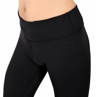 Women's Stretch Yoga Running Workout Pants Mid-Waist Leggings w Hidden Pocket (2 options available)