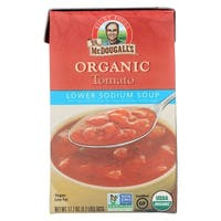 Dr. McDougall's Organic Chunky Tomato Lower Sodium Soup - Case of 6 - 17.7 oz.