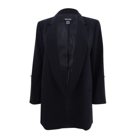 Nine West Women's Roll-Tab Flyaway Blazer