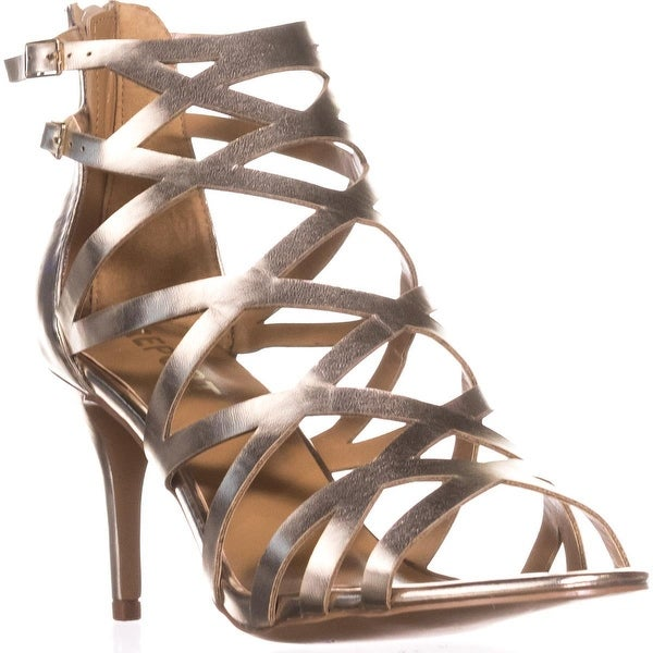 Report Kareena Strappy Caged Dress Sandals, Gold