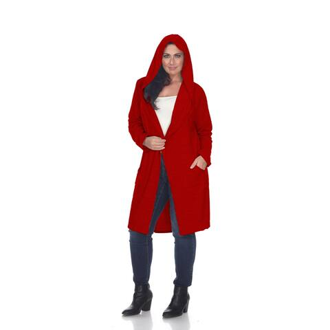 Plus Size Hooded North Cardigan - Red
