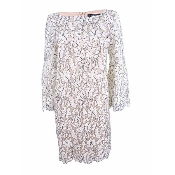 fa56dc27eab91 Shop Jessica Howard Women's Lace Bell-Sleeve Shift Dress - Free Shipping  Today - Overstock - 21473763