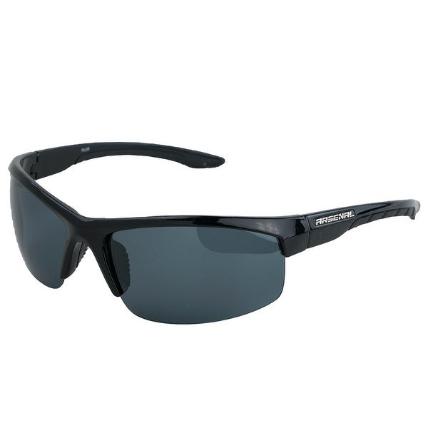 ff5835701d Shop Polarized Flux Sunglasses Shiny Black Black - One size - Free Shipping  On Orders Over  45 - Overstock - 25634949