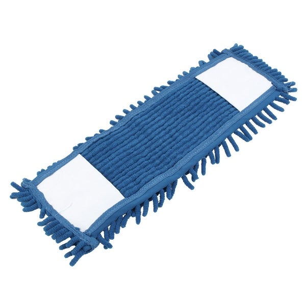 Family Bathroom Chenille Water Absorbing Floor Cleaning Sweeping Mop Head Blue