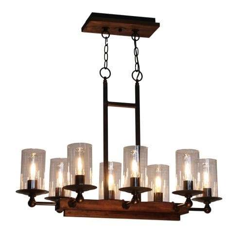 Artcraft lighting ac10148 legno rustico 8 light linear island light free shipping today overstock 23904954